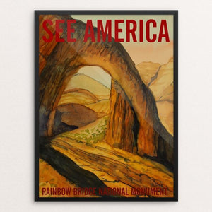"Rainbow Bridge National Monument by Bruce and Scott Sink 12"" by 16"" Print / Framed Print See America"