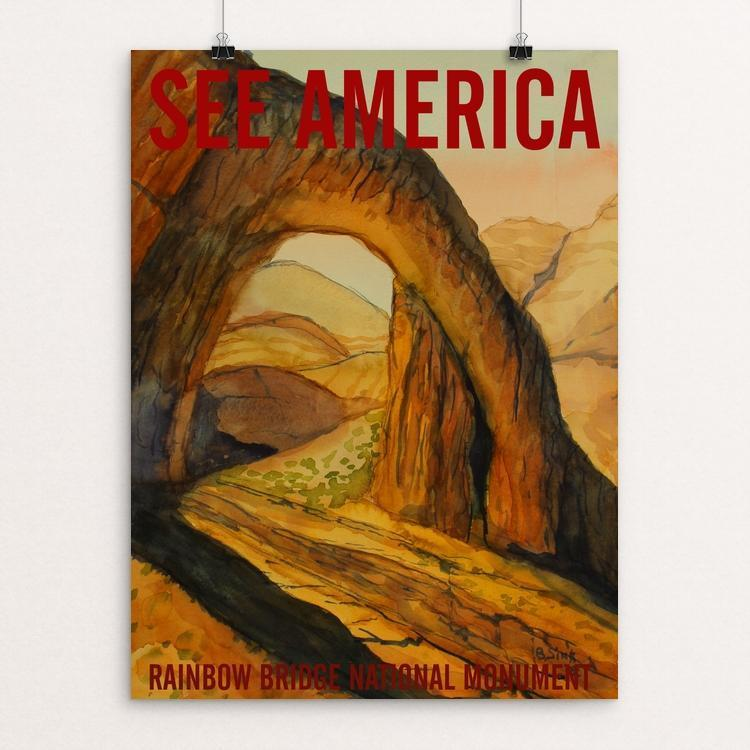 "Rainbow Bridge National Monument by Bruce and Scott Sink 12"" by 16"" Print / Unframed Print See America"
