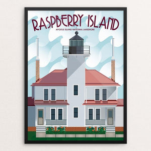 "Raspberry Island Lighthouse by Jamey Penney-Ritter 12"" by 16"" Print / Framed Print Creative Action Network"