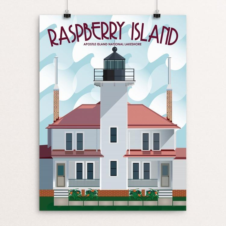 "Raspberry Island Lighthouse by Jamey Penney-Ritter 12"" by 16"" Print / Unframed Print Creative Action Network"