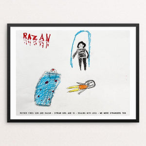 "Razan by David Gross 12"" by 16"" Print / Framed Print We Were Strangers Too"