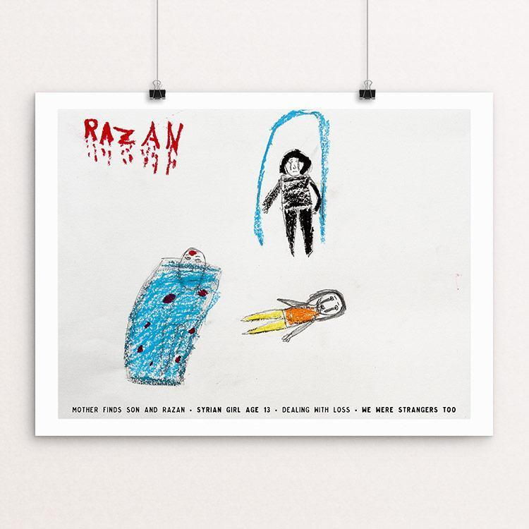 "Razan by David Gross 12"" by 16"" Print / Unframed Print We Were Strangers Too"
