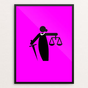 "RBG by Luis Prado 18"" by 24"" Print / Framed Print Creative Action Network"
