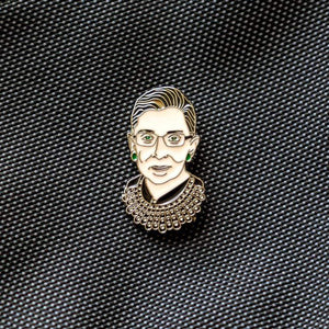 "RBG Enamel Pin by FCTRY 1.5"" by 0.75"" Enamel Pin Creative Action Network"