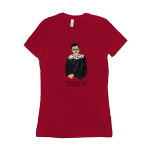 RBG Ruth Bader Ginsberg Women's T-Shirt by Maggie Stern Stitches Red / Small (S) T-Shirt We Can Do It!