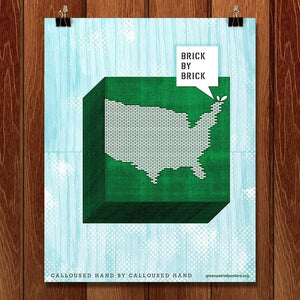 "(Re)Make America by Justin Kemerling 16"" by 20"" Print / Unframed Print Green Patriot Posters"