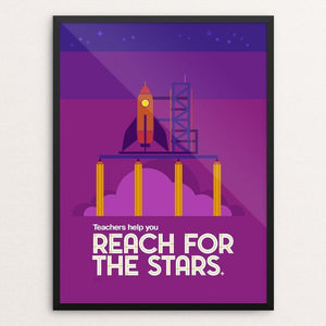 "Reach for the Stars by Jon Berry 12"" by 16"" Print / Framed Print Creative Action Network"