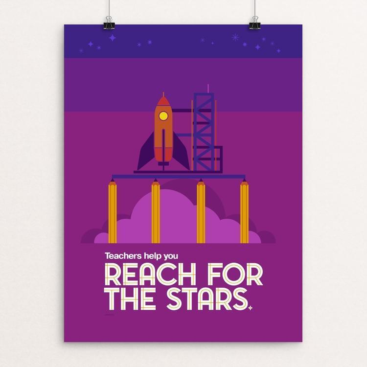 "Reach for the Stars by Jon Berry 12"" by 16"" Print / Unframed Print Creative Action Network"