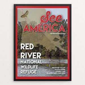 "Red River National Wildlife Refuge by Robin Rials Williams 12"" by 16"" Print / Framed Print See America"