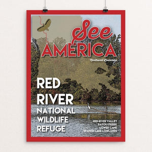 "Red River National Wildlife Refuge by Robin Rials Williams 12"" by 16"" Print / Unframed Print See America"