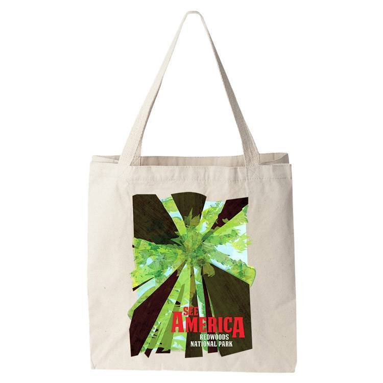 Redwood National and State Parks Tote Bag by Design by Goats Tote Bag See America
