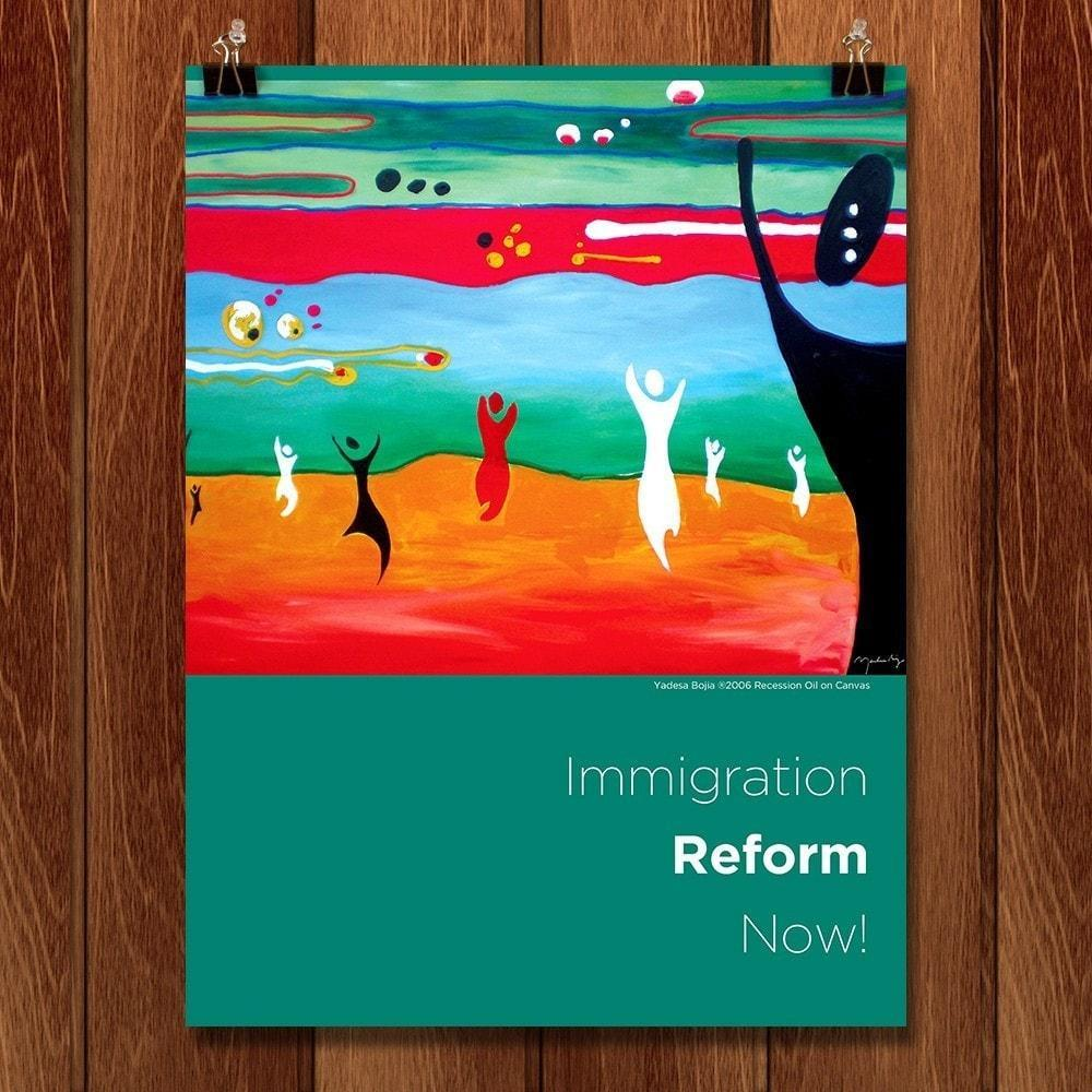 "Reform Now! by Yadesa Bojia 12"" by 16"" Print / Unframed Print Migration Nation"