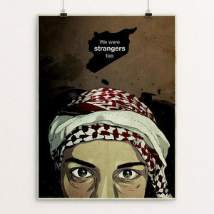 "Refugee Boy by Alexandra Espana 12"" by 16"" Print / Unframed Print We Were Strangers Too"