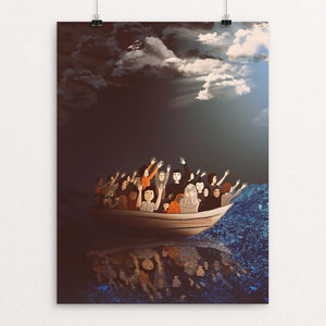 "Refugees towards a better life by Diana-Andreea Bahrin 12"" by 16"" Print / Unframed Print We Were Strangers Too"