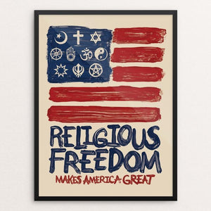 "Religious Freedom by Mark Forton 12"" by 16"" Print / Framed Print What Makes America Great"