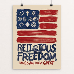 "Religious Freedom by Mark Forton 12"" by 16"" Print / Unframed Print What Makes America Great"