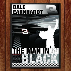 "Remember Dale Earnhardt  by Don  Dauphinee 18"" by 24"" Print / Framed Print Transcend - Moments in Sports that Changed the Game"