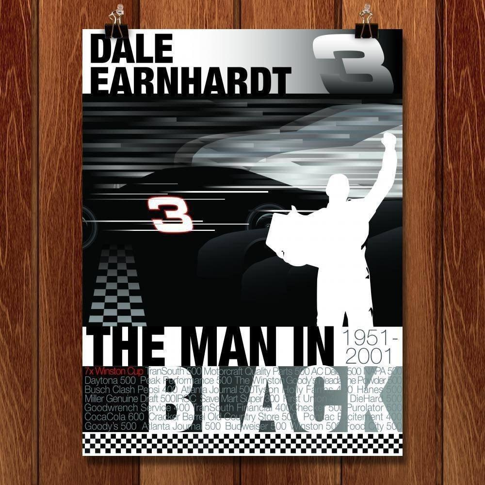 "Remember Dale Earnhardt  by Don  Dauphinee 18"" by 24"" Print / Unframed Print Transcend - Moments in Sports that Changed the Game"