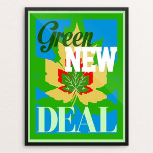 "Remember the Green New Deal by Bob Rubin 18"" by 24"" Print / Framed Print Green New Deal"