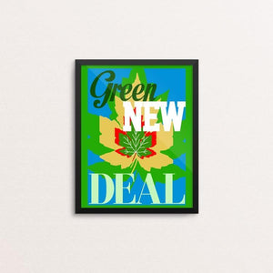"Remember the Green New Deal by Bob Rubin 8"" by 10"" Print / Framed Print Green New Deal"