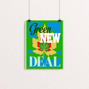 "Remember the Green New Deal by Bob Rubin 8"" by 10"" Print / Unframed Print Green New Deal"