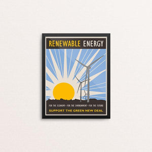 "Renewable Energy by Lisa Vollrath 8"" by 10"" Print / Framed Print Green New Deal"