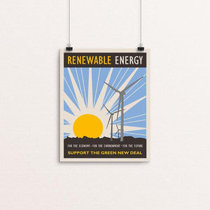"Renewable Energy by Lisa Vollrath 8"" by 10"" Print / Unframed Print Green New Deal"