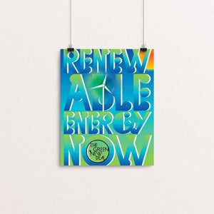 "Renewable Energy Now by Trevor Messersmith 8"" by 10"" Print / Unframed Print Green New Deal"