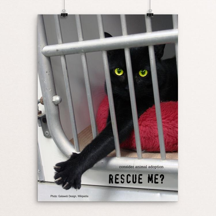 "Rescue Me? by Vivian Chang 18"" by 24"" Print / Unframed Print Creative Action Network"