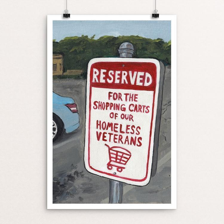Reserved for the Shopping Carts of Our Homeless Veterans by Will Alkin
