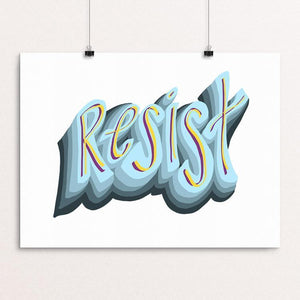 "RESIST by Shannon Anderson 16"" by 12"" Print / Unframed Print Creative Action Network"