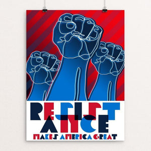 "Resistance by Trevor Messersmith 12"" by 16"" Print / Unframed Print What Makes America Great"
