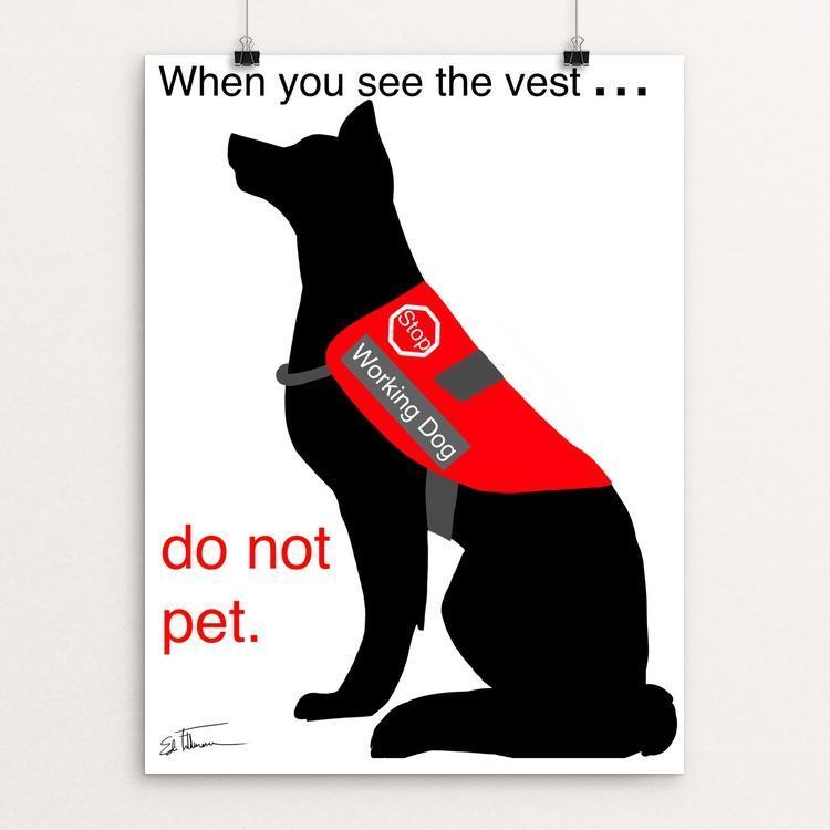 "Respect the Vest by Edie Feldmann 12"" by 16"" Print / Unframed Print Creative Action Network"