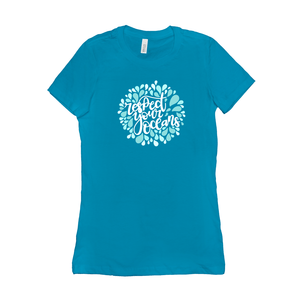 Respect Your Ocean Women's T-Shirt by Rachel Young Turquoise / Small (S) T-Shirt Creative Action Network