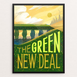 "Rising Green by Alyssa Winans 12"" by 16"" Print / Framed Print Green New Deal"