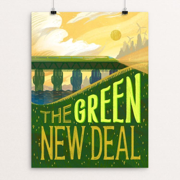 "Rising Green by Alyssa Winans 12"" by 16"" Print / Unframed Print Green New Deal"