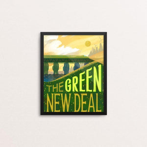 "Rising Green by Alyssa Winans 8"" by 10"" Print / Framed Print Green New Deal"