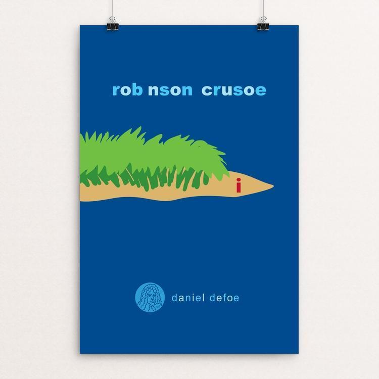 "Robinson Crusoe by Robert Wallman 12"" by 18"" Print / Unframed Print Recovering the Classics"