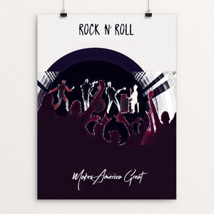 "Rock N Roll by Bryan Bromstrup 12"" by 16"" Print / Unframed Print What Makes America Great"