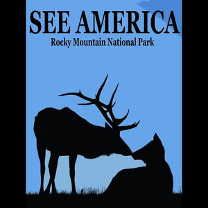"Rocky Mountain National Park 2 by Bill Vitiello 12"" by 16"" Print / Unframed Print See America"