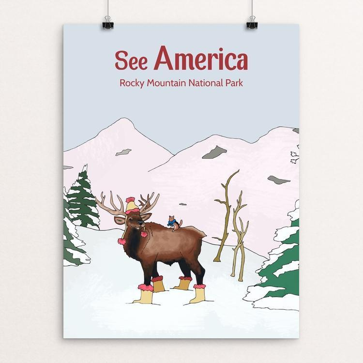 "Rocky Mountain National Park by Daisy Patton 12"" by 16"" Print / Unframed Print See America"