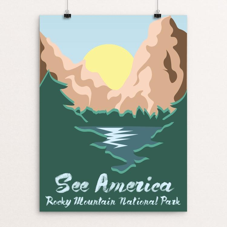 "Rocky Mountain National Park by Giselle Rocha 12"" by 16"" Print / Unframed Print See America"