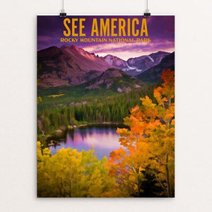 "Rocky Mountain National Park by Ike Loveland 12"" by 16"" Print / Unframed Print See America"