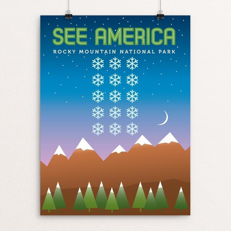 "Rocky Mountain National Park by Jon Briggs 12"" by 16"" Print / Unframed Print See America"
