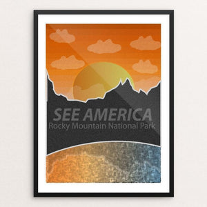 "Rocky Mountain National Park by Keeton Janisch 18"" by 24"" Print / Framed Print See America"