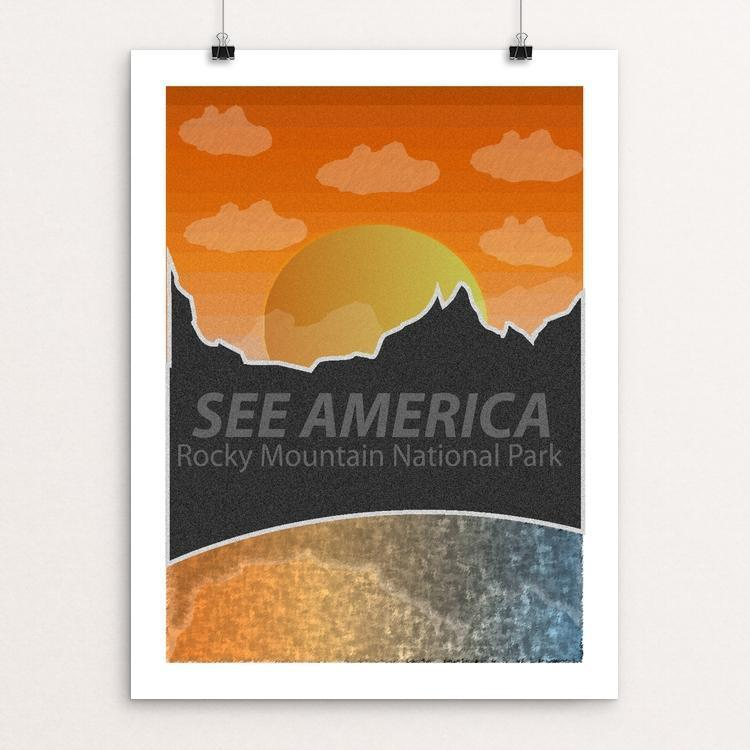 "Rocky Mountain National Park by Keeton Janisch 18"" by 24"" Print / Unframed Print See America"