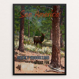 "Rocky Mountain National Park by Melody Gilmore 18"" by 24"" Print / Framed Print See America"