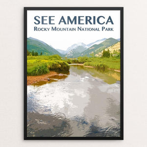 "Rocky Mountain National Park by Zack Frank 12"" by 16"" Print / Framed Print See America"