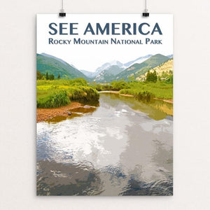 "Rocky Mountain National Park by Zack Frank 12"" by 16"" Print / Unframed Print See America"