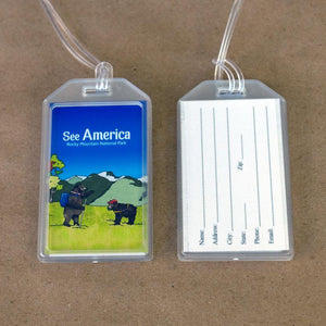 Rocky Mountain National Park Luggage Tags by Daisy Patton Lustre Paper Luggage Tag See America